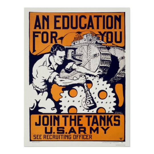 Army - Join the Tanks Poster