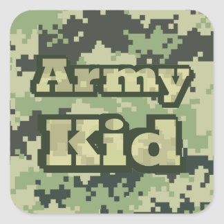 Army Kid Square Sticker