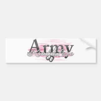 army kinda love bumper sticker