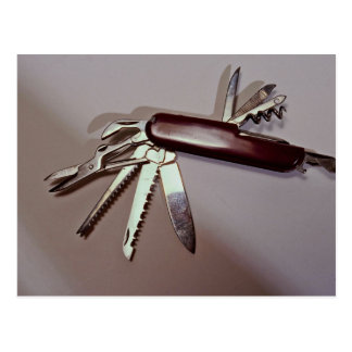 Army knife postcard