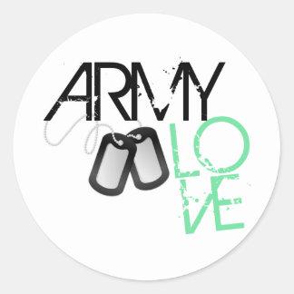 Army Love Classic Round Sticker