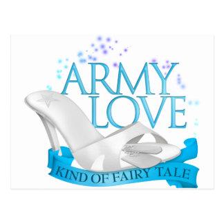 Army Love Kind of Fairy Tale Postcard
