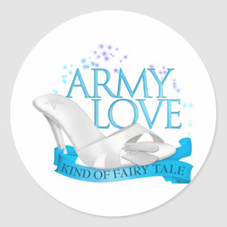 Army Love Kind of Fairy Tale Round Stickers