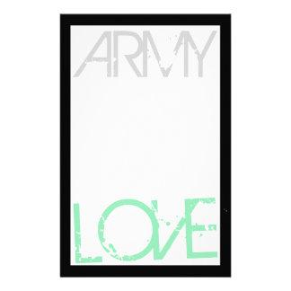 Army Love Stationery