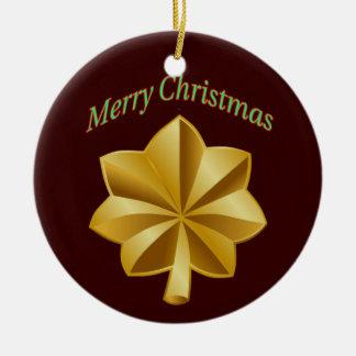 Army Major Christmas Ornament