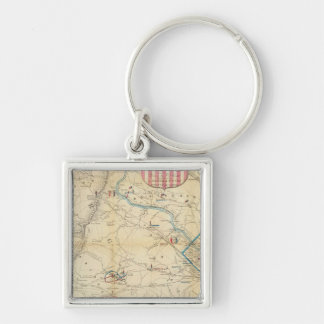 Army Map of The Seat of War In Virginia Keychains