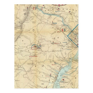 Army Map of The Seat of War In Virginia Postcards
