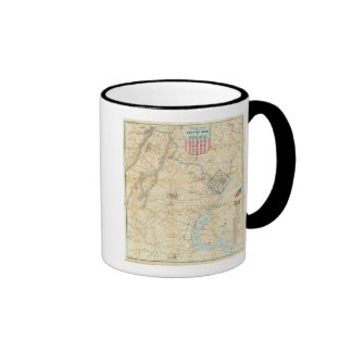 Army Map of The Seat of War In Virginia Ringer Mug