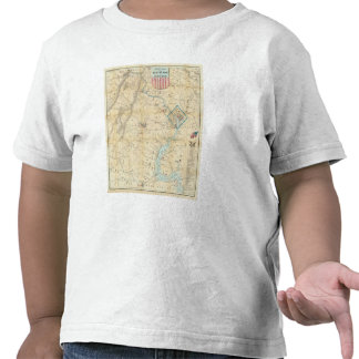 Army Map of The Seat of War In Virginia T-shirt