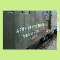 Army Medical Kitchen Train Car Blank Card