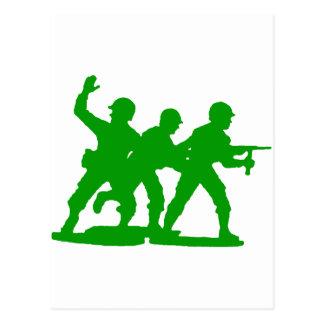 Army Men Squad Postcard