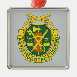Army Military Police Corps Square Metal Christmas Ornament