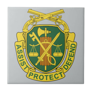 Army Military Police Corps Small Square Tile