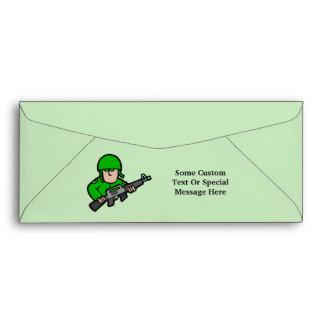 Army Military Soldier Camo Green Designer Art Envelope