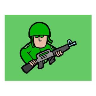Army Military Soldier Camo Green Designer Art Postcard