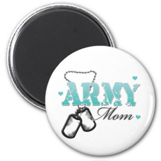 Army Mom 2 Inch Round Magnet