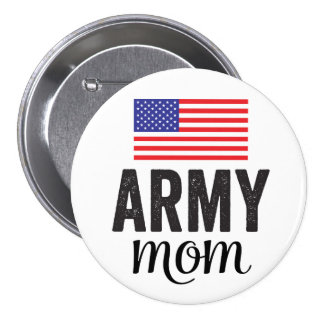 Army Mom American Flag Button
