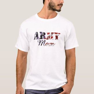 Army Mom American Flag T-Shirt