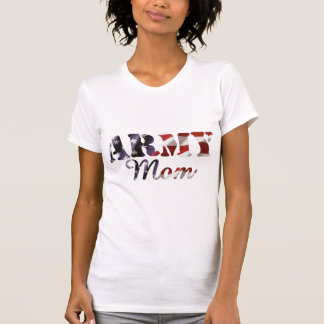 Army Mom American Flag T-shirts