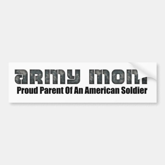 Army mom bumper sticker