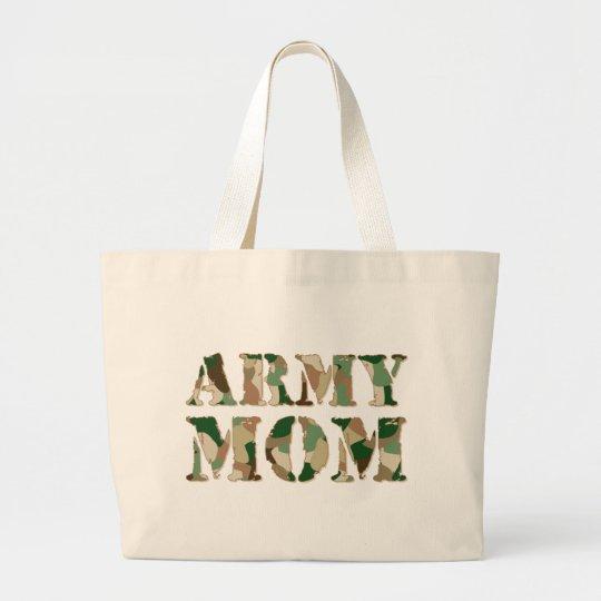 Army Mom camo Large Tote Bag
