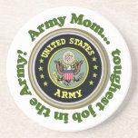 Army Mom coaster