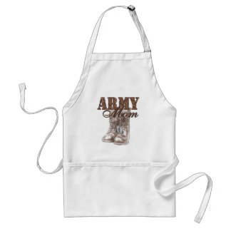 Army Mom Combat Boots N Dog Tags 1 Adult Apron