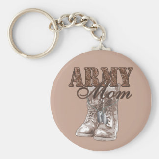 Army Mom Combat Boots N Dog Tags 1 Keychain