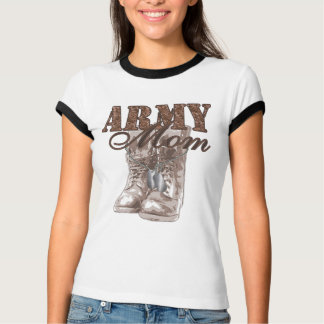 Army Mom Combat Boots N Dog Tags 1 T-Shirt