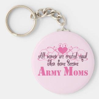 Army Mom, Created Equal Keychain