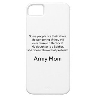 Army Mom Daughter No Problem iPhone 5/5S Case