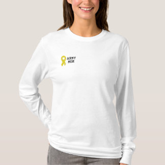 Army Mom Embroidered Long Sleeve T-Shirt
