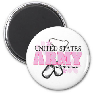 Army Mom flowers Fridge Magnets