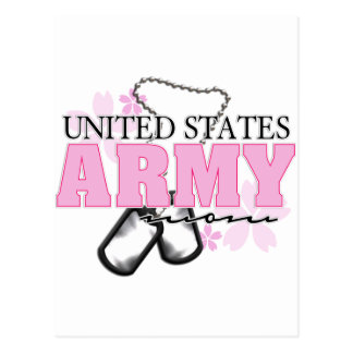 Army Mom flowers Postcard