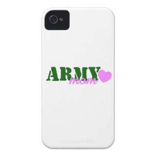 Army Mom Green Pink Heart iPhone 4 Case-Mate Cases