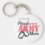 Army Mom Hearts Key Chain