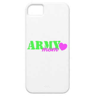 Army Mom Lime Green Pink Heart iPhone 5 Cases