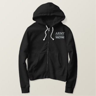 Army Mom Military Pride Embroidered Hoodie