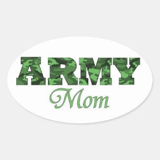 Army Mom Oval Sticker