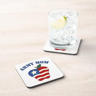 Army Mom Patriotic Apple Coaster