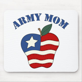 Army Mom Patriotic Apple Mouse Pad