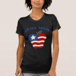 Army Mom Patriotic Apple Tshirt