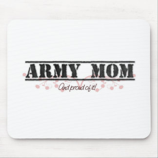 Army Mom Pinkish Style Mouse Pad