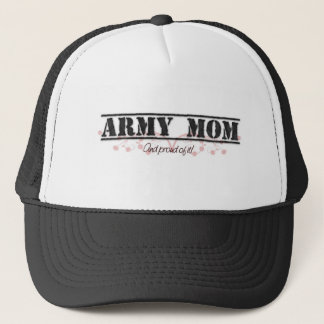 Army Mom Pinkish Style Trucker Hat