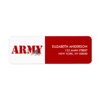 Army Mom Return Address Labels