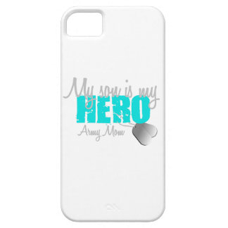 Army Mom Son is my  Hero iPhone 5 Cases