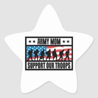 ARMY MOM STAR STICKER