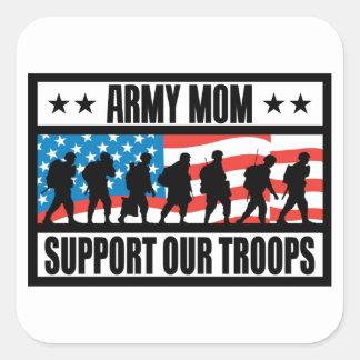 ARMY MOM SQUARE STICKER