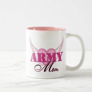 Army Mom Wings Two-Tone Coffee Mug