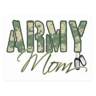 army mom with dog tags copy postcard